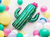 Folieballong Kaktus, 60 x 82 cm.
