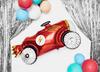 Folieballong Röd bil, 93 x 48 cm.