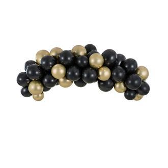 Ballonggirlang svart/guld, 2 m.