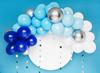 Ballongbåge blå/vit/silver, 2 m.