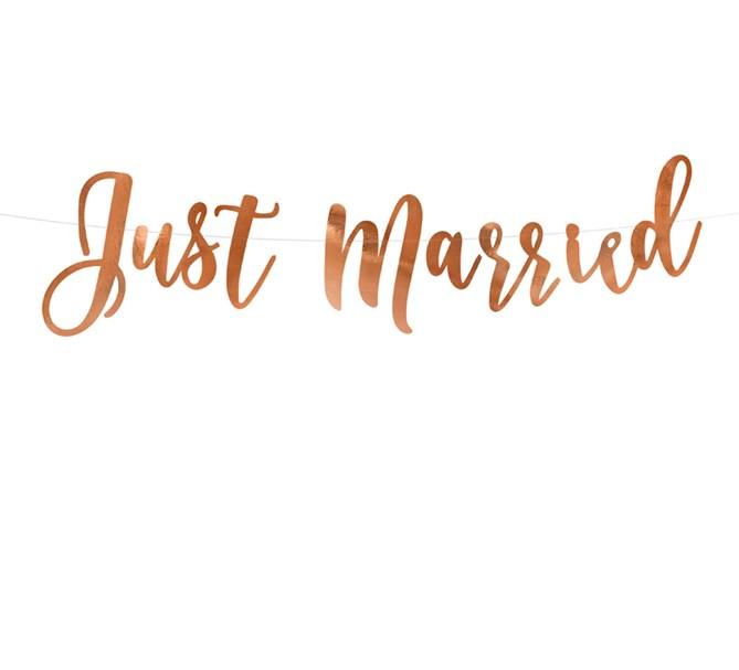 "Girlang ""Just Married"" roséguld"