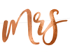 "Girlang ""Mr & Mrs"" roséguld"