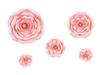 Väggdekoration rosor rosa, 5-pack