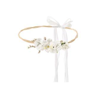 Vit blomsterkrans till bröllop