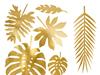 Bordsdekoration Tropiska blad guld, 21 st.
