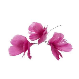 Fjäder blomma cerise, 12-pack