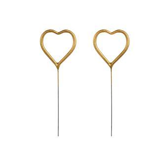 Tomtebloss hjärta guld, 2-pack
