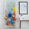 Ballongset till dörr Regnbågsfärgad/guld