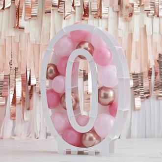 Ballongställ siffran 0, utan ballonger