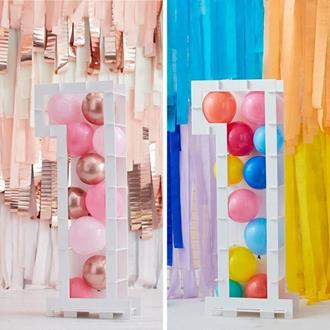 Ballongställ siffran 1, utan ballonger