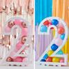 Ballongställ siffran 2, utan ballonger