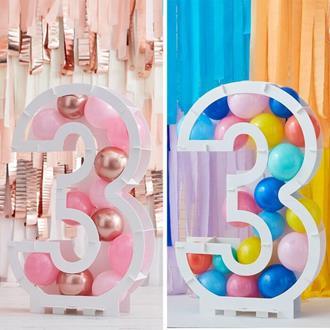Ballongställ siffran 3, utan ballonger