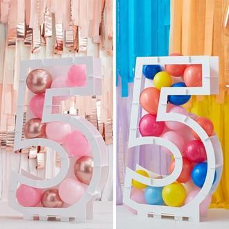 Ballongställ siffran 5, utan ballonger