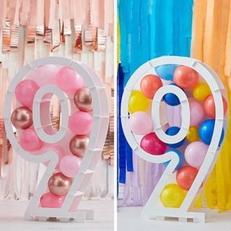 Ballongställ siffran 9, utan ballonger