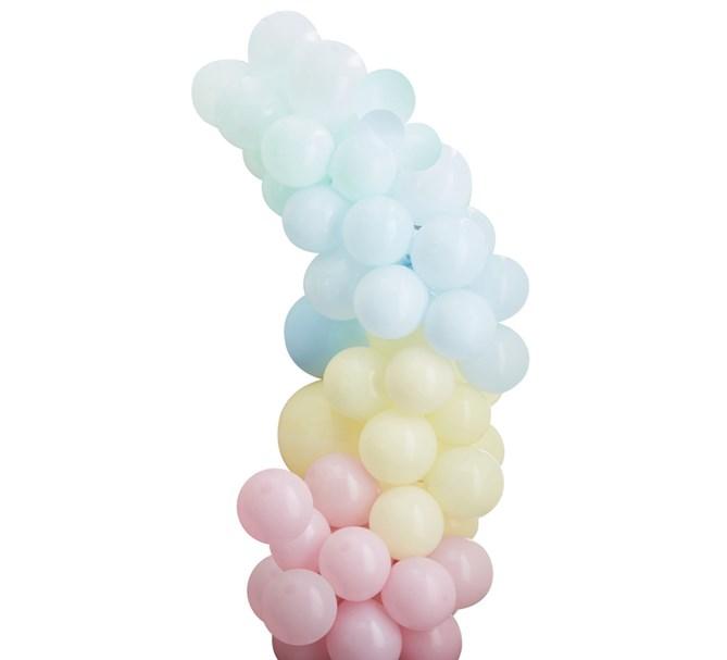 Ballonggirlang Regnbåge pastell