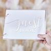 Gästbok med akrylomslag Rosé