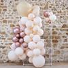 Ballonggirlang persika/rosé/vit