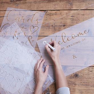 Schabloner till texter Bröllop A3