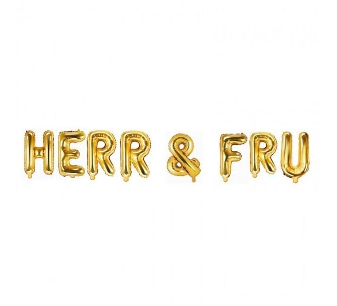 Ballonggirlang HERR & FRU guld