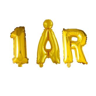 Ballonggirlang 1 ÅR guld, 102 cm hög
