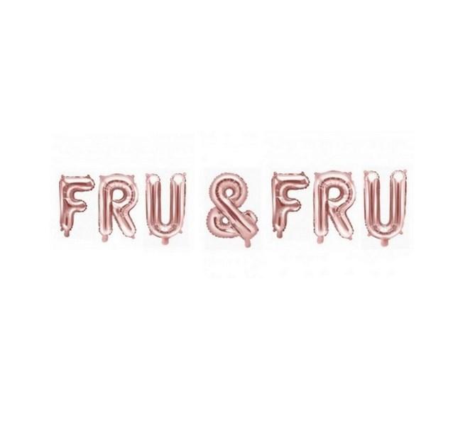 Ballonggirlang FRU & FRU roseguld