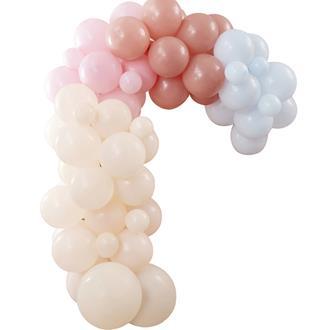 Ballonggirlang persika/rosa/ljusblå Bohemisk