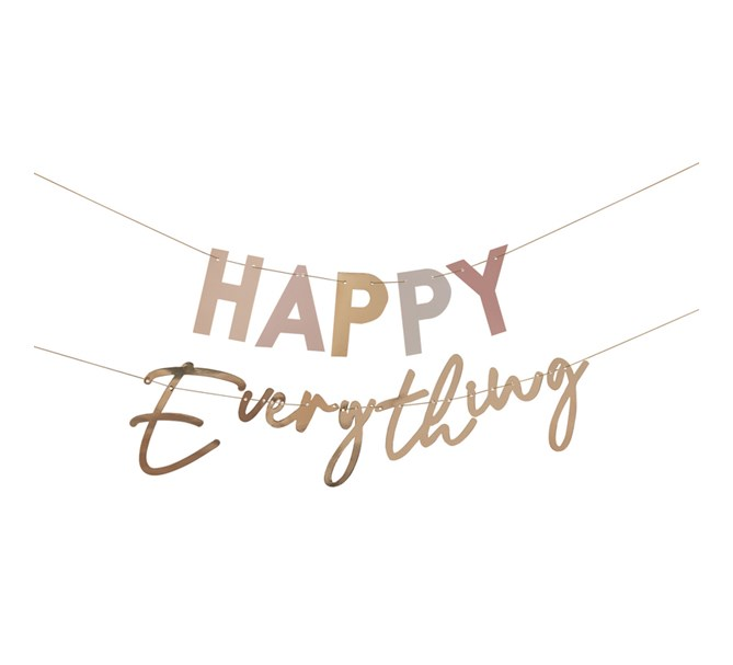 "Vimpel ""Happy Everything"" Bohemiskt tema"