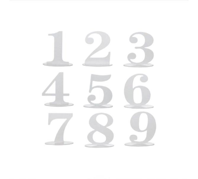 Bordsdekoration, Siffra 0-9