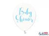 "Ballong ""Babyshower"" transparent/blå, 5-pack"