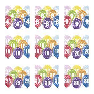 Födelsedagsballonger Metallic, 5-pack
