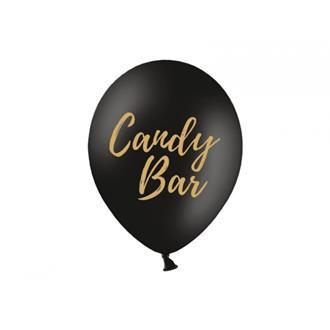 Ballonger Candy Bar Svarta, 5-pack