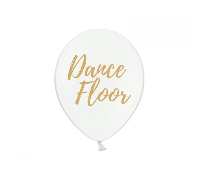 Ballonger Dance Floor vit, 5-pack