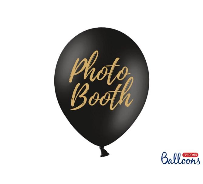 Ballonger Photobooth Svart, 5-pack