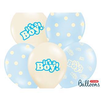 """Ballonger """"It´s a boy"""", 5-pack"""