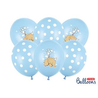 Ballonger Elefant, Blå, 6-pack