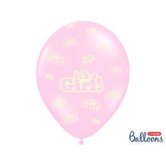 Ballonger I´ts a girl rosa, 5-pack