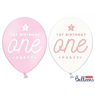Ballonger 1st Birthday One, 6-pack