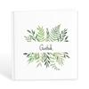 Gästbok med gröna blad