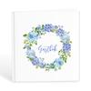 Gästbok med blå blommor