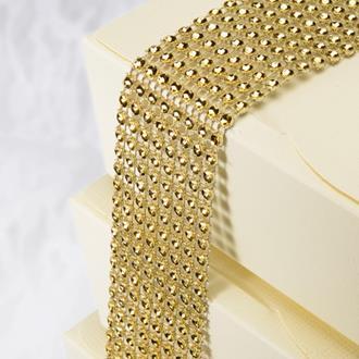 Strassband guld till tårtan, 1,5 m