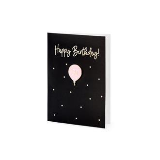 """Kort """"Happy Birthday 30!"""" med ballong-pin"""