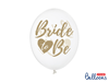 """Ballonger """"Bride To Be"""" Guld, 5-pack"""