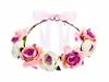 Blomsterkrans till bröllop rosa