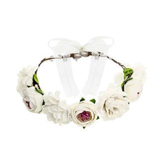 Blomsterkrans till bröllop vit