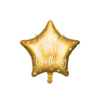 Folieballong Stjärna Guld, 40 cm