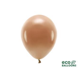 Eko ballonger chokladbruna 26 cm, 10 st
