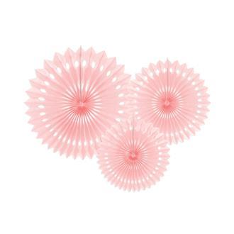 Dekorationsrosett rosa, 3-pack