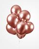 Ballonger Koppar glansiga 30 cm, 10-pack