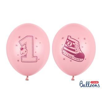 Ballonger Nummer 1, Rosa 6-pack