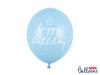Ballonger Happy Birthday Blå, 6-pack